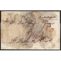 CORREO DESINFECTADO. 1835. ESPAÑA. SPAIN. MARSEILLE. MARSELLA A SANT FELIU DE GUIXOLS.