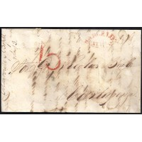 CORREO DESINFECTADO. 1841. ESPAÑA. SPAIN. BARCELONA A CARTAGENA.
