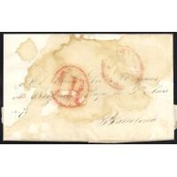 CORREO DESINFECTADO. 1847. ESPAÑA. SPAIN. PALMA DE MALLORCA A BARCELONA.