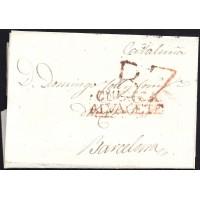 1824. ESPAÑA. SPAIN. ALBACETE A BARCELONA.