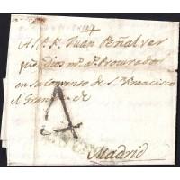 1798. ESPAÑA. SPAIN. QUINTANAR DE LA ORDEN A MADRID.