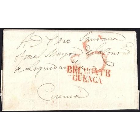 1833. ESPAÑA. SPAIN. BELMONTE A CUENCA.
