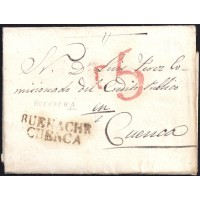 1837. ESPAÑA. SPAIN. VALVERDEJO A CUENCA.