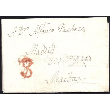 1808. ESPAÑA. SPAIN. ALMODOVAR DEL PINAR A MERIDA.