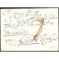 1807. ESPAÑA. SPAIN. CASTILLO DE GARCIMUÑOZ A CIUDAD REAL.