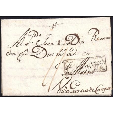 1764. ESPAÑA. SPAIN. CUENCA A VILLA GARCIA.