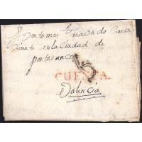 1796. ESPAÑA. SPAIN. CAÑETE A VALENCIA.