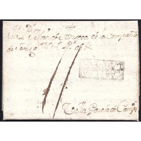 1766. ESPAÑA. SPAIN. VILLAREJO A VILLAGARCIA DE CAMPOS.