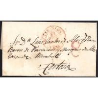 1844. ESPAÑA. SPAIN. ORCAJO A TORTOSA.