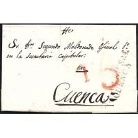 1836. ESPAÑA. SPAIN. VILLAR DE CAÑAS A CUENCA.