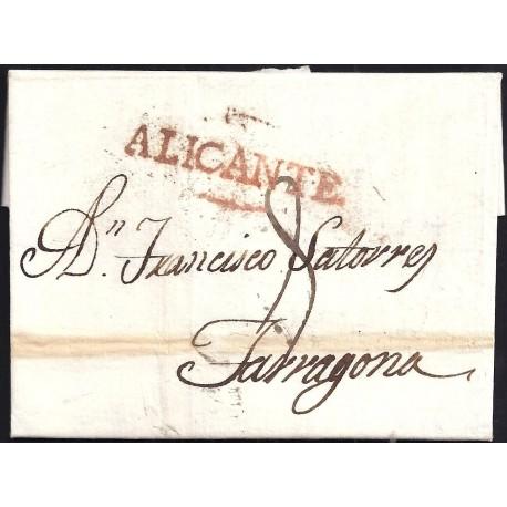 1806. ESPAÑA. SPAIN. ALICANTE A TARRAGONA.