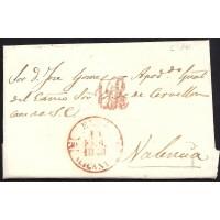 1848. ESPAÑA. SPAIN. MONOVAR A VALENCIA.