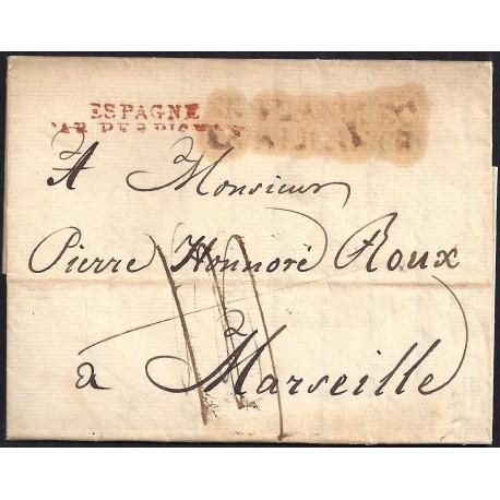 1817. ESPAÑA. SPAIN. ALICANTE A MARSELLA. MARSEILLE. FRANCIA. FRANCE.