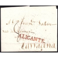 1805. ESPAÑA. SPAIN. ALICANTE A TARRAGONA.