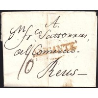 1815. ESPAÑA. SPAIN. ALICANTE A REUS.