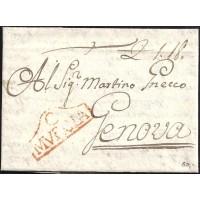 1791. ESPAÑA. SPAIN. CARTAGENA A GENOVA. ITALIA. ITALY.