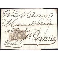 1789. ESPAÑA. SPAIN. MURCIA SAINT QUENTIN. FRANCIA. FRANCE.