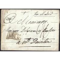 1790. ESPAÑA. SPAIN. MURCIA A SAINT QUENTIN. FRANCIA. FRANCE.