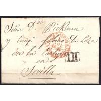 1853. ESPAÑA. SPAIN. CARTAGENA A SEVILLA.