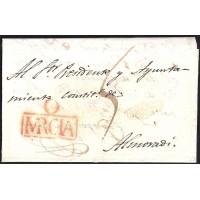 1821. ESPAÑA. SPAIN. ORIHUELA A ALMORADI.