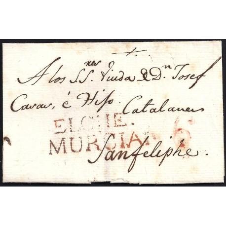 1803. ESPAÑA. SPAIN. ELCHE A SAN FELIPE.