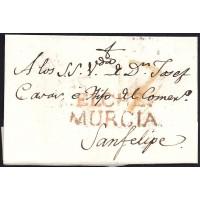 1817. ESPAÑA. SPAIN. ELCHE A JATIVA.