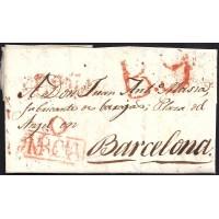 1822. ESPAÑA. SPAIN. REDOVAN A BARCELONA.