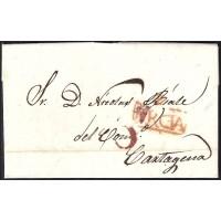 1841. ESPAÑA. SPAIN. CIEZA A CARTAGENA.