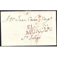 1803. ESPAÑA. SPAIN. ELCHE A JATIVA.