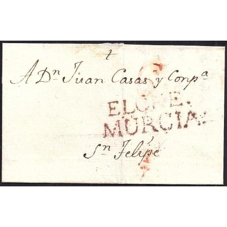 1809. ESPAÑA. SPAIN. ORIHUELA A JATIVA.