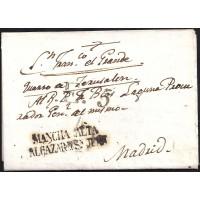 1824. ESPAÑA. SPAIN. ALCAZAR DE SAN JUAN A MADRID.