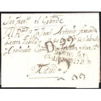 1825. ESPAÑA. SPAIN. ALCAZAR DE SAN JUAN A MADRID.