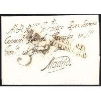 1823. ESPAÑA. SPAIN. ALCAZAR DE SAN JUAN A MADRID.