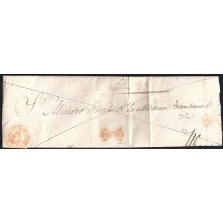 1848. ESPAÑA. SPAIN. ALMAGRO A ALBACETE.