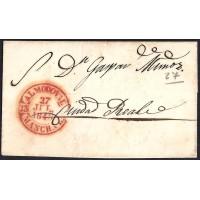 1846. ESPAÑA. SPAIN. ALMODOVAR A CIUDAD REAL.