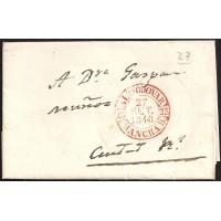 1848. ESPAÑA. SPAIN. ALMODOVAR A CIUDAD REAL.