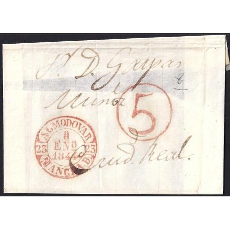 1844. ESPAÑA. SPAIN. ALMODOVAR A CIUDAD REAL.