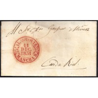1851. ESPAÑA. SPAIN. ALMODOVAR A CIUDAD REAL.