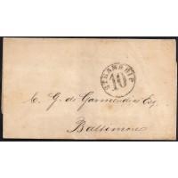 CORREO MARITIMO. 1860. ESPAÑA. SPAIN. LA HABANA A BALTIMORE. USA.