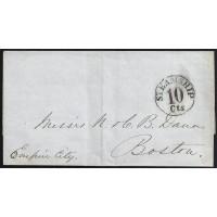 CORREO MARITIMO. 1852. ESPAÑA. SPAIN. CUBA. MATANZAS A BOSTON. USA.