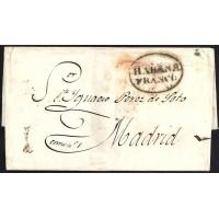 CORREO MARITIMO. 1834. ESPAÑA. SPAIN. LA HABANA A MADRID.