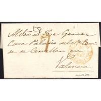 1845. ESPAÑA. SPAIN. A VALENCIA.