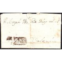 1783. ESPAÑA. SPAIN. ONDARA A VALENCIA.