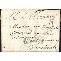 1745. ESPAÑA. SPAIN. VALENCIA A FRANCIA. FRANCE.