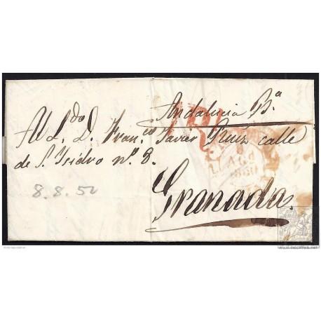 1850. ESPAÑA. SPAIN. MADRID A GRANADA.