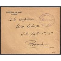 GUERRA CIVIL. REPUBLICANOS. SPANISH CIVIL WAR. REPUBLICANS. CIRCA 1937. CAMBRILS A BARCELONA. MEMBRETE IMPRESO.