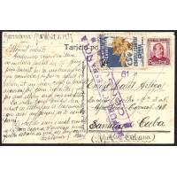 GUERRA CIVIL. REPUBLICANOS. SPANISH CIVIL WAR. 1937. BARCELONA A SANTIAGO DE CUBA. 25 CTS. ED. 685. 5 CTS. CONSELL DE GUERRA.