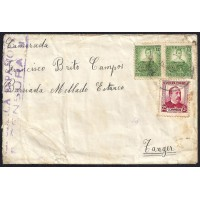 GUERRA CIVIL. REPUBLICANOS. SPANISH CIVIL WAR. 1937. COMITE DE REFUGIADOS DE OLOT A TANGER. 10 Y 25 CTS. ED. 682 (2) Y 685.