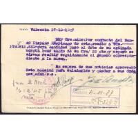 GUERRA CIVIL. REPUBLICANOS. SPANISH CIVIL WAR. REPUBLICANS. 1937. VALENCIA A BARCELONA. 5 Y 20 CTS . ED. 666 Y 681.