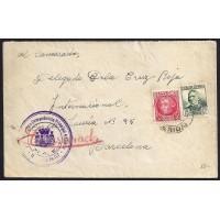 GUERRA CIVIL. REPUBLICANOS. SPANISH CIVIL WAR. REPUBLICANS. 1938. FRENTE A BARCELONA. 15 Y 30 CTS. ED. 683 Y 687.